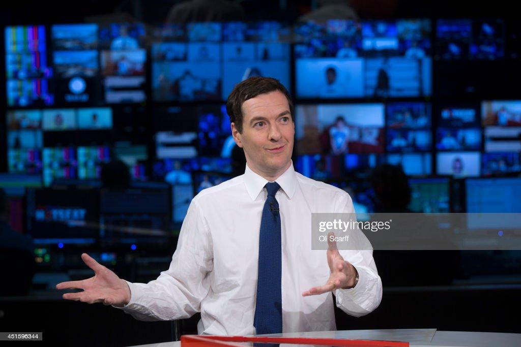 School Children Interview Chancellor George Osborne : News Photo