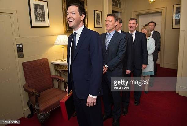 Chancellor of the Exchequer George Osborne leads his Treasury team Commercial Secretary to the Treasury Lord ONeill of Gatley Exchequer Secretary to...