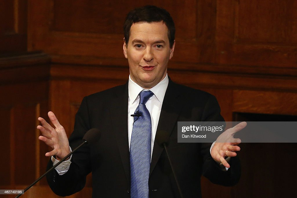 Chancellor George Osborne Speech On EU Reform : News Photo