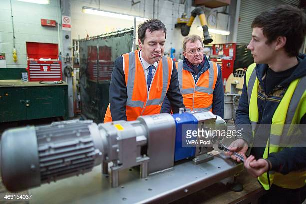 Chancellor of the Exchequer George Osborne visits HaasTek an exportdriven business that specialises in the relocation and installation of industrial...