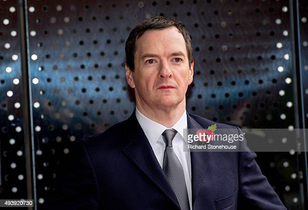 Chancellor of the Exchequer George Osborne waits for The President of the People's Republic of China Xi Jinping to arrive to tour the National...