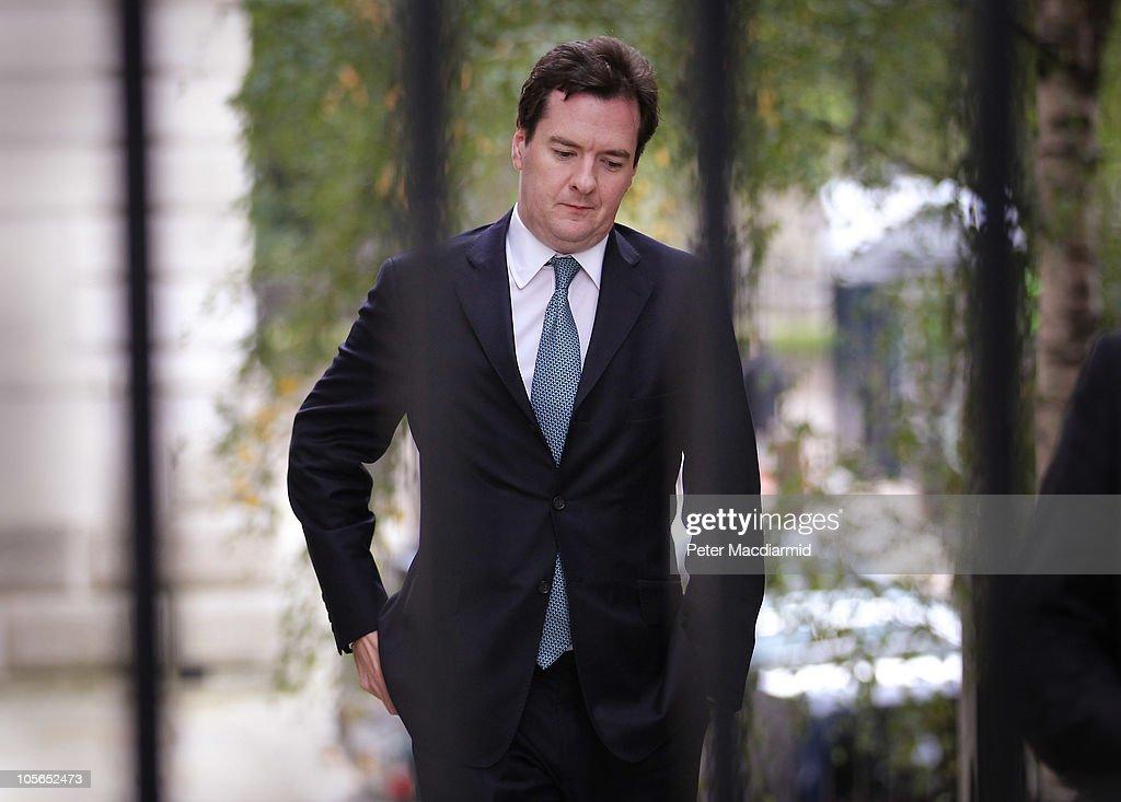 Chancellor George Osborne Prepares For Spending Cuts Announcement : News Photo