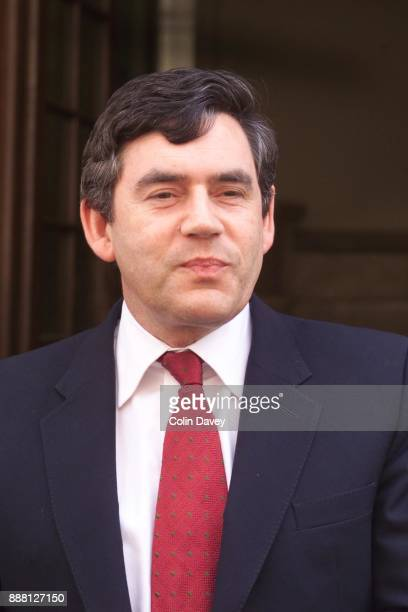 Chancellor of the Exchequer Gordon Brown, outside the Treasury, London, 18th July 2000.