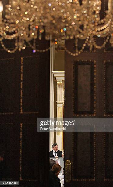 Chancellor of the Exchequer Gordon Brown speaks at The Mansion House on June 20 2007 in London Mr Brown is attending the Lord Mayors Dinner to the...