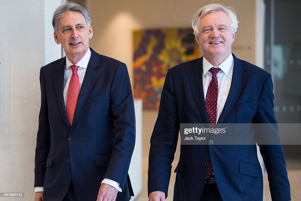 The Chancellor And Minister For Exiting The European Union Meet Financial Service Executives