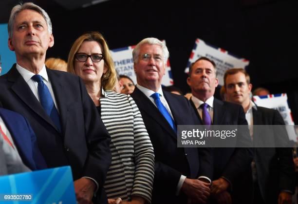 Chancellor of the Exchequer Philip Hammond Home Secretary Amber Rudd Defence Secretary Michael Fallon and Secretary of State for International Trade...
