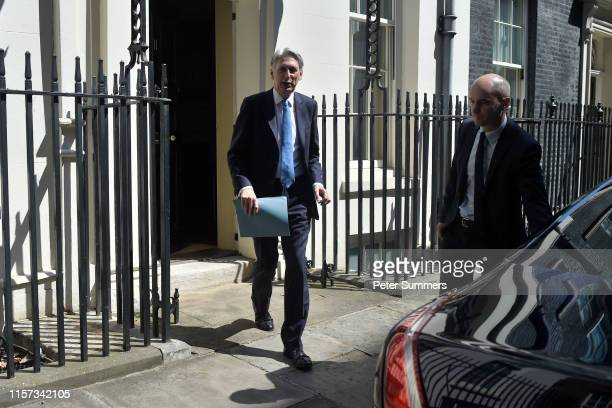 Chancellor of the Exchequer Philip Hammond leaves 11 Downing Street on July 23 2019 in London England Ministers of Theresa May's Cabinet attended her...