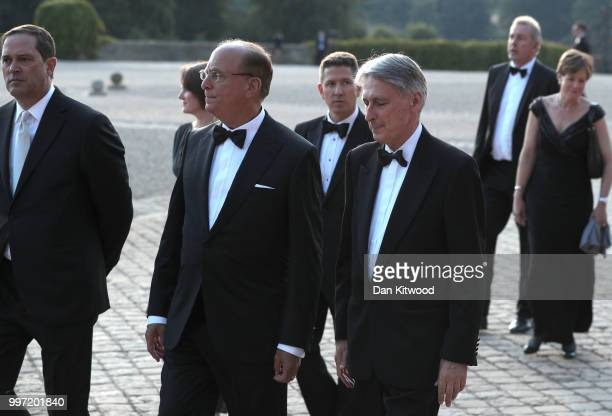 Chancellor of the Exchequer Philip Hammond prior to the arrival of US President Donald Trump and First Lady Melania Trump at Blenheim Palace on July...