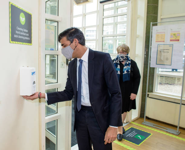 GBR: Rishi Sunak And Therese Coffey Visit Jobcentre Plus In East London