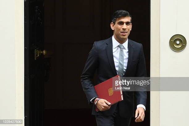 Chancellor of the Exchequer, Rishi Sunak leaves number 11, Downing Street on July 8, 2020 in London, England. The Chancellor is expected to announce...