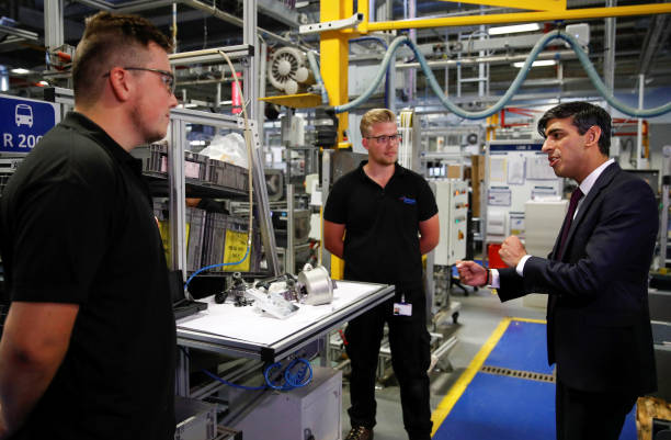 GBR: Chancellor Of The Exchequer Rishi Sunak Visits The Worcester Bosch Factory