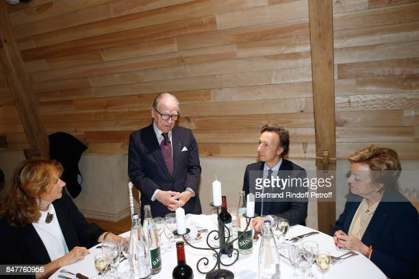 Chancellor of the 'Institut de France' Prince Gabriel de Broglie and Stephane Bern attend Members of the Stephane Bern's Foundation for 'L'Histoire...