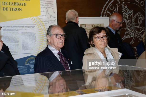 Chancellor of the 'Institut de France' Prince Gabriel de Broglie attends Members of the Stephane Bern's Foundation for 'L'Histoire et le Patrimoine'...