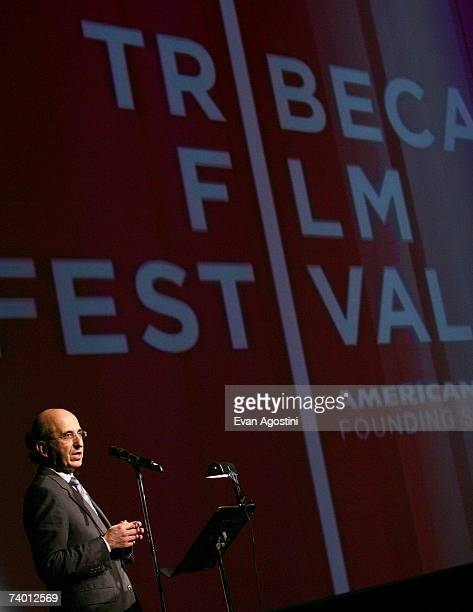Chancellor of the New York City Department of Education Joel Klein speaks during the Tribeca Film Institute Screening of the Angelina Jolie directed...