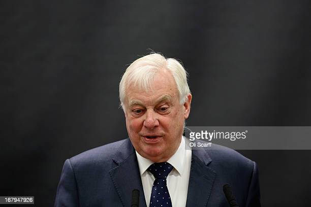 Chancellor of the University of Oxford Lord Patten addresses an audience in the newly opened 'Li Ka Shing Centre for Health Information and...