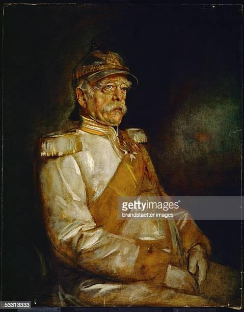 Chancellor Otto von Bismarck in uniform with Prussian helmet Canvas [Kanzler Otto von Bismarck in Uniform mit preussischem Helm Gemaelde 1871]