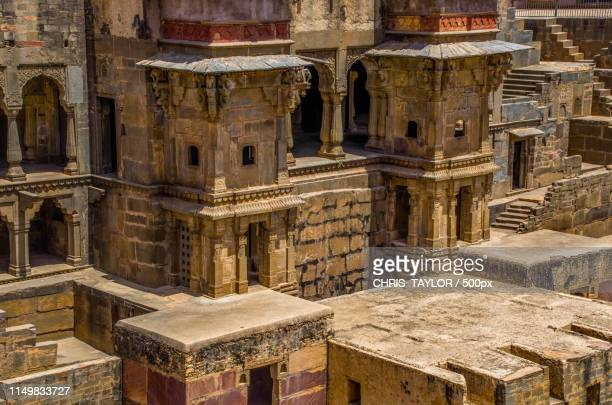 chand baori - stepwell stock photos and pictures