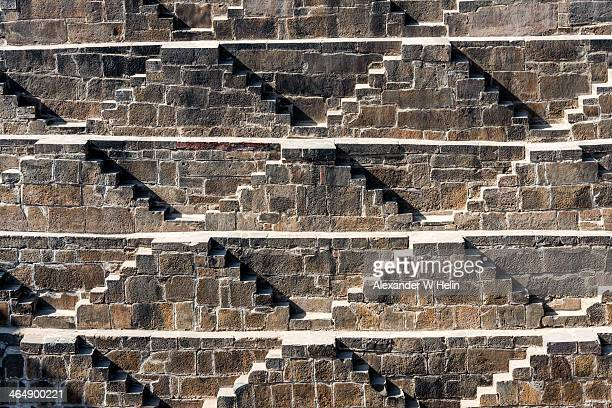 chand baori - abhaneri stock photos and pictures