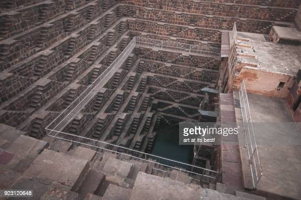 chand baori step well - stepwell stock photos and pictures