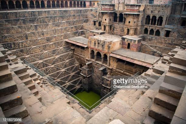 chand baori stepwell, abhaneri, rajasthan, india - stepwell bildbanksfoton och bilder