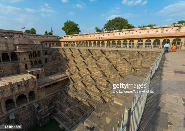 Chand Baori stepwell, Rajasthan, Abhaneri, India on July 14, 2019 in Abhaneri, India.