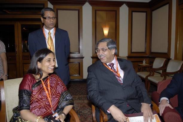 Chanda Kochchar Joint MD of ICICI Bank Tamal Bandyopadhyay Mumbai Beurau Chief of MINT K C Chakrabarthy CMD of Punjab National Bank during the MINT...