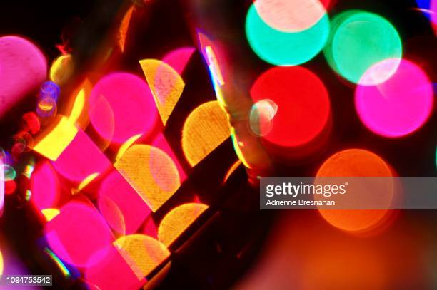 chandelier glass prism with light effects - educational subject stock photos and pictures