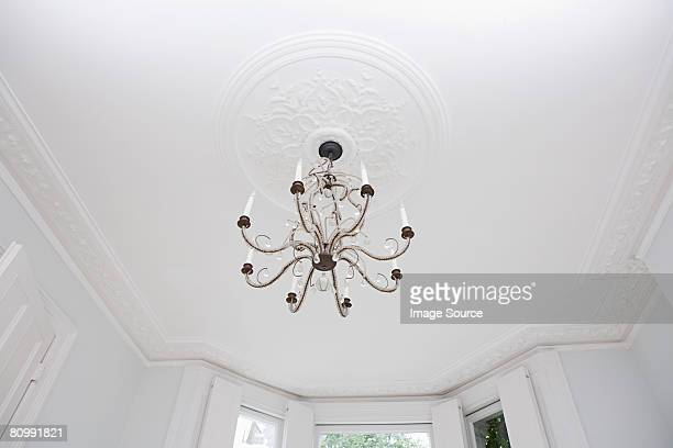 Chandelier hanging from a ceiling