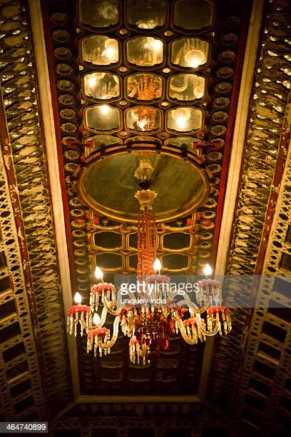 chandelier in a fort, meherangarh fort, jodhpur, rajasthan, india - meherangarh fort stock photos and pictures