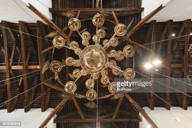 A chandelier inside Bethlehem's Church of the Nativity Tuesday 13 March 2018 in Bethlehem Palestine