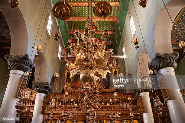 Chandelier Inside The Great Basilica Of The Transfiguration In The Holy Monastery Of St Catherine At Mount Sinai South Sinai Egypt