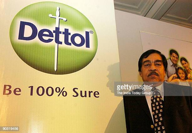 Chander Mohan Sethi Chairman and Managing Director Reckitt Benckiser India Ltd at Dettol Press Conference Delhi India on 21 March 2006 Potrait