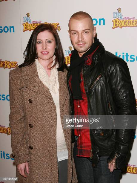 Chandie YawnNelson and Joseph Lawrence arrive at The Jim Henson Company's Fraggle Rock Holiday Toy Drive Benefit at Kitson on Roberston on December 9...