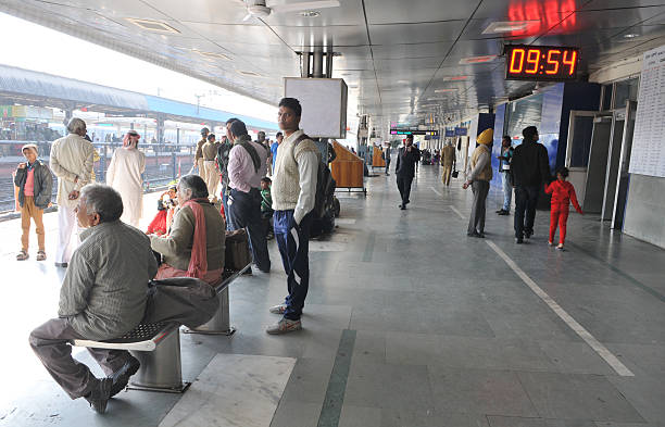 Chandigarh Police deployed at Chandigarh railway station to check the entry of followers of godman Rampal into city on November 17 2014 in Chandigarh.