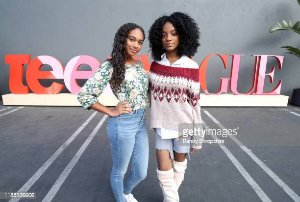Chandler Kinney and Jada Alexandria Taylor attend the Teen Vogue Summit 2019 at Goya Studios on November 02 2019 in Los Angeles California