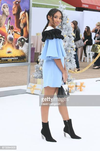 Chandler Kinney arrives at the Premiere of Columbia Pictures' 'The Star' at the Regency Village Theatre on November 12 2017 in Westwood California
