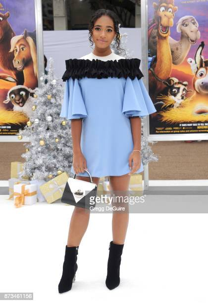 Chandler Kinney arrives at the premiere of Columbia Pictures' 'The Star' at Regency Village Theatre on November 12 2017 in Westwood California