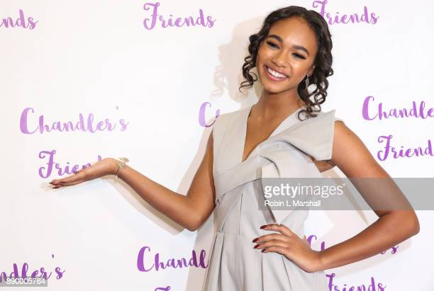 Chandler Kinney attends Chandler's Friends Toy Drive And Wrapping Party at Los Angeles Ballet Academy on December 10 2017 in Encino California