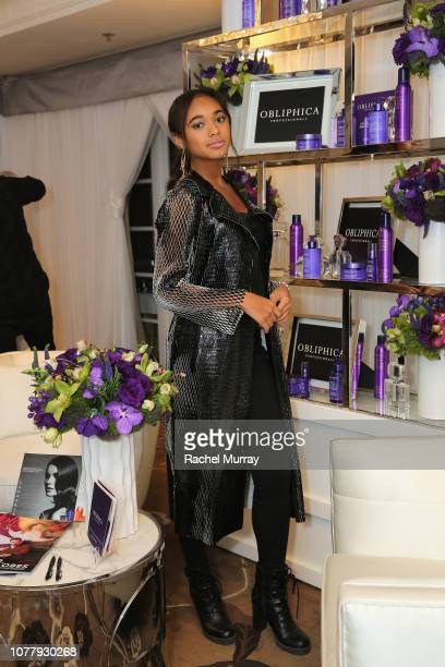 Chandler Kinney attends HBO LUXURY LOUNGE Presented By Obliphica Professional Day 2 on January 5 2019 in Beverly Hills California