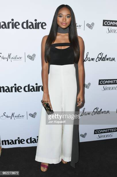 Chandler Kinney attends Marie Claire's 5th Annual 'Fresh Faces' at Poppy on April 27 2018 in Los Angeles California