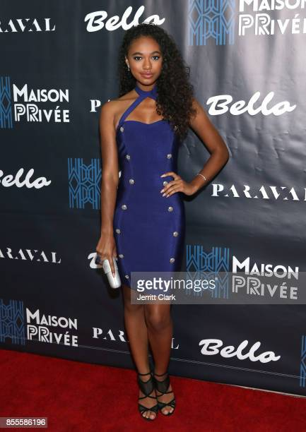 Chandler Kinney attends the Bello And Maison Privee Party at Hills Penthouse on September 28 2017 in West Hollywood California