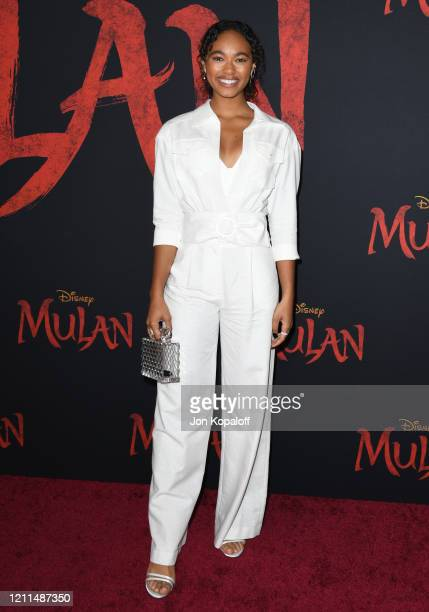 Chandler Kinney attends the premiere of Disney's Mulan on March 09 2020 in Hollywood California