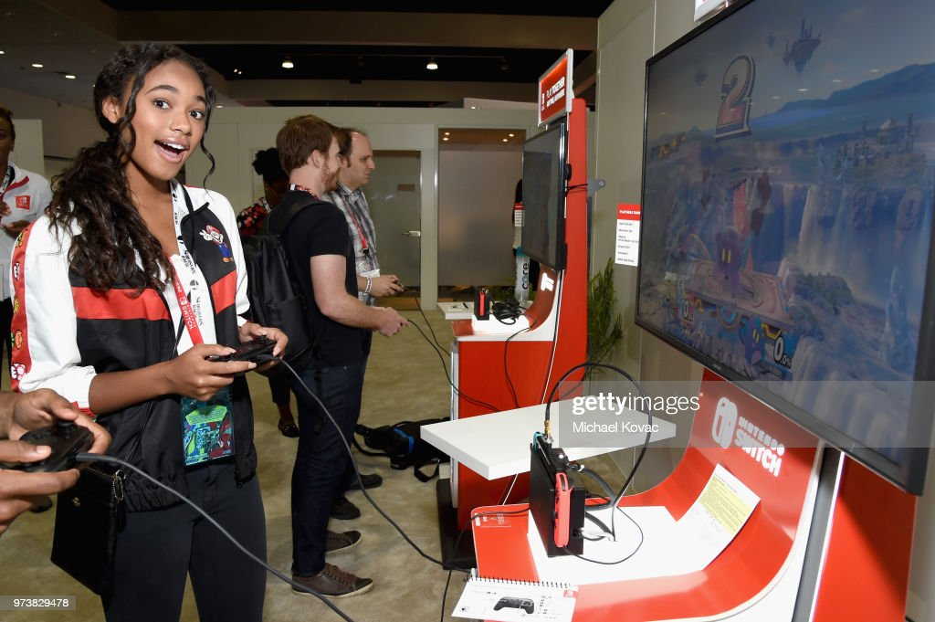Chandler Kinney got a look at the Super Smash Bros. game on the Nintendo Switch system during the 2018 E3 Gaming Convention at Los Angeles Convention Center on June 13, 2018 in Los Angeles, California.