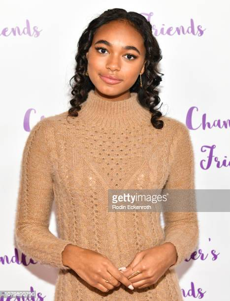 Chandler Kinney poses for portrait at her 3rd Annual Holiday Toy Drive Event on December 09 2018 in Los Angeles California