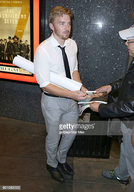 Chandler Massey is seen outside the premiere of 'Standoff' on September 8 2016 arriving to the premiere of 'Sully' in Los Angeles CA