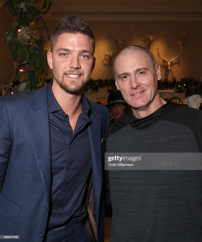 Chandler Parsons and Rick Carlisle attend a Del Toro Chandler Parsons Event at Saks Fifth Avenue Beverly Hills on October 30, 2015 in Beverly Hills, California.