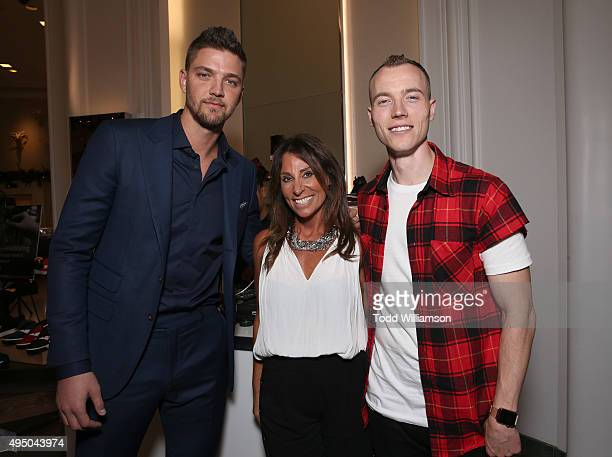 Chandler Parsons, Beth Moskowitz and DJ Skee attend a Del Toro Chandler Parsons Event at Saks Fifth Avenue Beverly Hills on October 30, 2015 in...