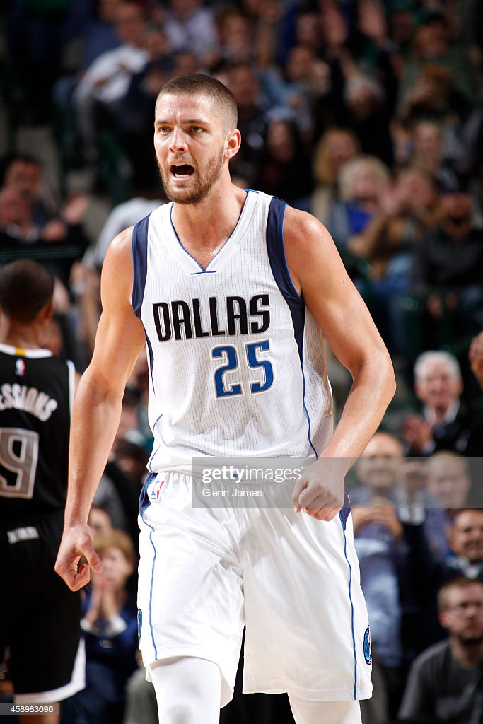 Chandler Parsons #25 of the Dallas Mavericks during the game against the Sacramento Kings on November 11, 2014 at the American Airlines Center in Dallas, Texas.