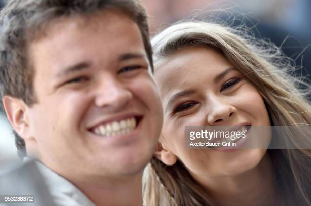 Chandler Powell and Bindi Irwin attend the ceremony honoring Steve Irwin with star on the Hollywood Walk of Fame on April 26 2018 in Hollywood...