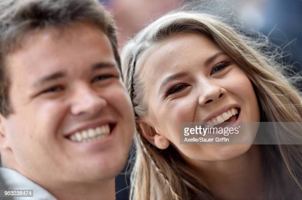 Chandler Powell and Bindi Irwin attend the ceremony honoring Steve Irwin with star on the Hollywood Walk of Fame on April 26, 2018 in Hollywood,...